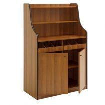 Szervírozó szekrény, gurulós, 2 ajtóval, 2 nyitott evőeszköztartó fiókkal – METALCARRELLI 1600F