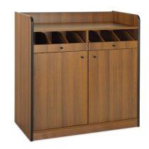 Szervírozó szekrény, alacsony, gurulós, 2 ajtóval, 2 nyitott evőeszköztartó fiókkal – METALCARRELLI 1620F