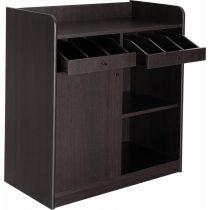 Szervírozó szekrény, alacsony, gurulós, 1 ajtóval, 1 nyitott tárolóval, 2 nyitott evőeszköztartó fiókkal – METALCARRELLI 1627F