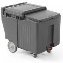 HENDI 877883 Hőszigetelt jégtároló, jégszállító kocsi, 110 literes