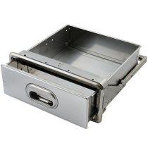PRI3074 Beépíthető rozsdamentes zaccfiók, leütő rúddal