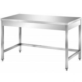 Rozsdamentes asztalok felhajtás nélkül, alsó polc nélkül